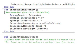 An Inline Commenting Macro